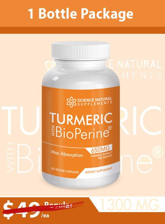 Turmeric 1 btl cont - Turmeric W/ Bioperine: Purchase 1 Bottle Get three Bottles Free!